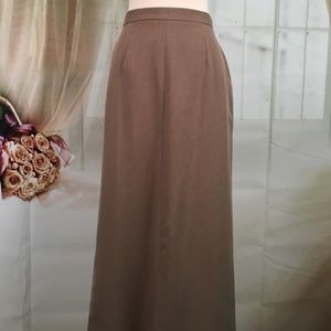 Liz Claiborne Harvest Meadows Tan Maxi Skirt